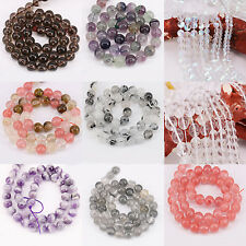 1 Bunch Crystal Round Multicolor Charm Spacer Bead Bracelet Jewelry Making Craft