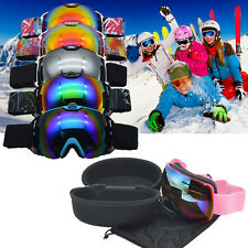 Unisex Double Lens UV400 Anti-fog Spherical Ski Snowboard Skiing Glasses Goggles
