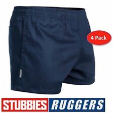 4 PACK GENUINE STUBBIES RUGGERS ELASTIC WAIST DRILL MENS WORK SHORTS SE2060