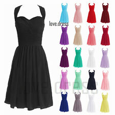 STOCK HOT Halterneck Formal Prom Party Ball Bridesmaid Cocktail Dress Size 6-22