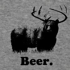 BEER Bear Deer Hunting Alcohol Grizzly Whitetail Shirt