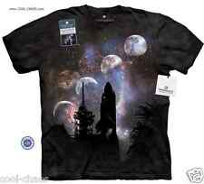 Columbia Launch Pad Space Shuttle T-Shirt-Charcoal Tie Dye Space NASA Space Tee