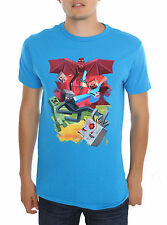 "Jinx Minecraft ""Group Shot"" Turquoise SMALL T-Shirt Mojang NWT Licensed"