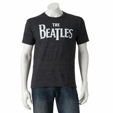 """The Beatles Men's """"The Beatles"""" Rock Band New Charcoal Heather SMALL T-Shirt NWT"""