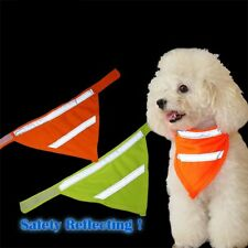Dog Triangle Collars Puppy Cat Neckerchief Reflective Fluorescent Square Scarf