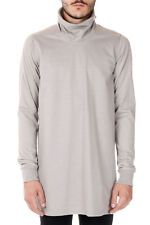 RICK OWENS new men Grey TURTLE LONG SLEEVE Tee T-shirt Cotton Made italy