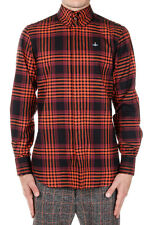 VIVIENNE WESTWOOD LONDON Men Checked Cotton Shirt Made in Italy