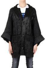 DSQUARED2 Dsquared² women Black Knitted Virgin Wool Jacket Made in Italy
