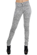 CHEAP MONDAY denim jeans black and white stretch mixed cotton new with tags