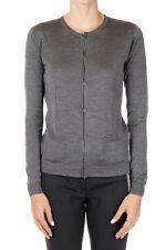 DSQUARED2 Dsquared² New women Grey Silk Long sleeve Cardigan Made Italy
