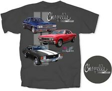 Chevrolet Chevelle 1964 Malibu 1967 SS 396 1972~Men's T-Shirt Gray~100% Cotton