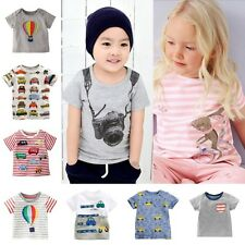 Kids Cartoon Tops Baby Boys Girls Short Sleeve Shirts T Shirt Summer Tee T-Shirt