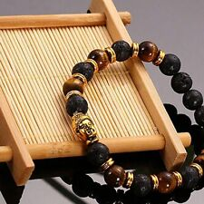 Charming Lava Stone Rock Elastic Bracelet Bangle Buddha Beaded Bracelet