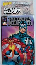 Heros Reborn 1/2-Marvel Comics/Wizard-1996-w/Certificate-White Pages-NM+/MINT