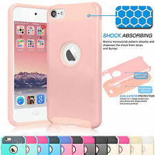 Shockproof Hybrid Rugged Rubber Hard Case Cover for Apple iPod Touch 5 5th 6th