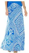 Defect sale-LILLY PULITZER NOLA MAXI SKIRT/ Dress Blue Crush Open Water XS