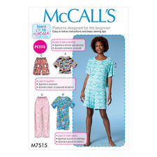 McCalls Sewing Pattern Misses/Petite Top & Dress,Pull-On Shorts & Pants | M7515