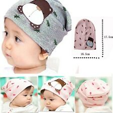 Color Autumn Winter Infant Baby Cartoon Dog Cute Warm Cap Toddler Beanie Hat