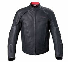VICTORY MOTORCYCLES MENS BLACK LEATHER CANYON JACKET WATERPROOF