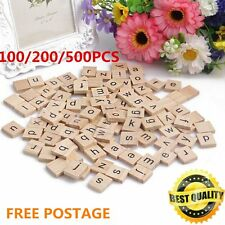 100-500pcs Wooden Alphabet for Scrabble Tiles Letters&Numbers For Crafts Wood NG