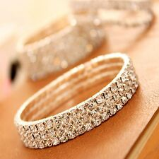 Bridal Prom Fashion Rhinestone Party Wedding Crystal Anklet Bracelet Stretch