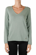 PRINCESS GOES HOLLYWOOD New woman Military Green Cashmere Sweater V-neck Jumper
