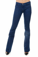 THE SEAFARER New Woman Blue Boot Cut Stretch Denim Jeans Made in Italy PENELOPE