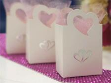 Silver Hearts Wedding FAVOR BOXES Party Home Decorations Wholesale Supply SALE