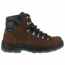 Iron Age Mens Brown WP Leather 6in Hiker Boots Tiller Composite Toe