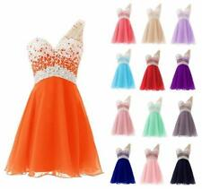 New MinI Evening Cocktail Prom Gowns Wedding Party Bridesmaid Dress Noble ty7556