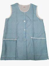1 Ladies Dog-Tooth Tabard Tabbard Apron Work Overall / Lucy / Blue / All Sizes