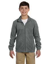 M990Y Harriton Youth 8 oz. Full-Zip Fleece