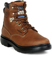 Georgia CC Mens Briar Brown Leather Waterproof Steel Toe Work Boots