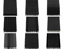 Men's Soft Luxurious 100% Pure Wool Long Winter Scarf, Premium Quality 10 Styles