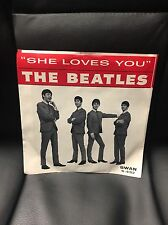 "THE BEATLES "" She Loves You"" -l'LL Get You -7""w/Picture Sleeve Swan s-4152 RARE"