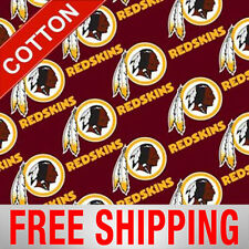 "Washington Redskins Cotton Fabric NFL 60"" Wide Style WAS-3528 Free Shipping"