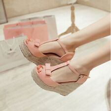Women Sandals Wedges Shoes Platform Wedges High Heels Sandals T Belt