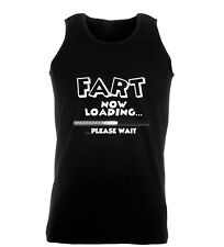 Fart Now Loading Please Wait Funny Rude Mens Gym Womens Vest Tank Top