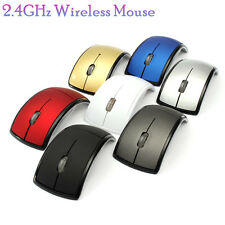 2.4GHz Wireless Optical Mouse Foldable Arc Mice + USB Receiver For PC Laptop