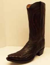 Men's Lucchese M1609.s54 Black Cherry Full Quill Ostrich BUY IT NOW $449!