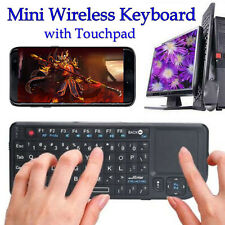 RF 2.4 Ghz Mini Wireless Keyboard with Touchpad 3.3V Built in Laser Pointer New