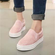 Women Loafers Casual Flat Heels Round Toe Black Pink Loafer Shoes Autumn Comfort
