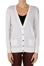 BE YOU New woman White Cashmere Sweater knit Cardigan NWT