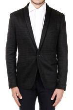 RICK TAILOR New Men Grey Single breasted Cotton Blend Blazer Made in Italy