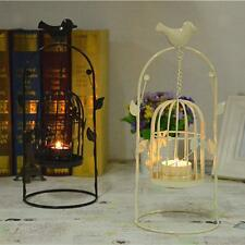 Vintage Iron Bird Cage Lantern Candle Holder Candlestick Wedding Decor
