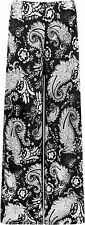 New Plus Womens Monochrome Paisley Wide Leg Palazzo Pants Ladies Flared Trousers