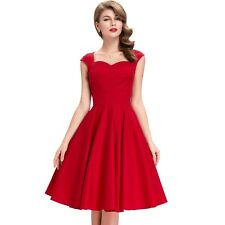 Women Audrey Hepburn Vestidos Women Summer Retro Casual Robe Vintage Dress