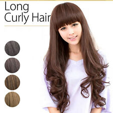 Fashion Hot Women Long Wavy Hair Lady Girl Cosplay Costume Party Full Curly Wig