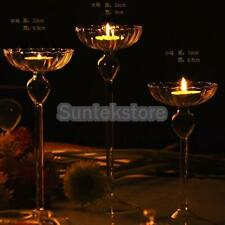 Candlestick Glass Candle Tea Light Holder Romantic Wedding Party Bar Decor