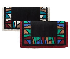 """Weaver Leather Stain Glass New Zealand Wool Saddle Blanket, 34"""" x 36"""" - 2 Colors"""
